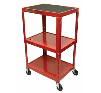 "Luxor Adjustable Compact Steel Computer Workstation 26-42"" with Electric-Red"