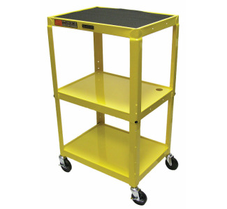 "Luxor Adjustable Compact Steel Computer Workstation 26-42"" with Electric-Yellow"