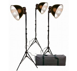 Promaster Basic 3-Light Reflector Kit W/11