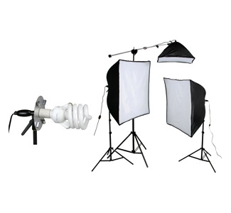 Smith-Victor ECONOMY SOFTBOX KSB-1250 Continuous Lighting Kit