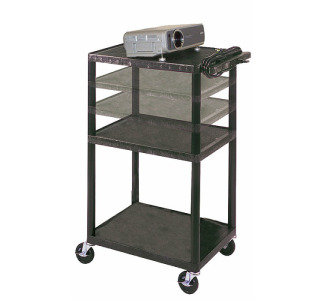 18 In  X 24 In  Shelves Multi Height LP Cart w/ Electric
