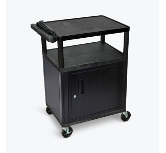 "Luxor 34"" LP Cart with Cabinet and Electric -Black"