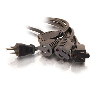Cables To Go 1-to-4 Power Splitter Cable - 6 ft