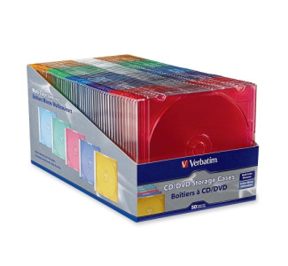 Verbatim CD / DVD Color Slim Case