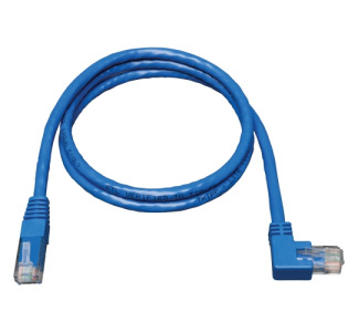 Tripp Lite N204-003-BL-RA Cat.6 Patch Cable  (RJ45 M/right angle M) 3 ft - Blue