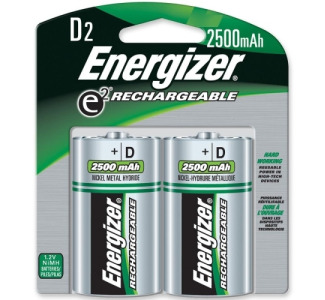 Energizer D Size Nickel Metal Hydride Rechargeable Battery