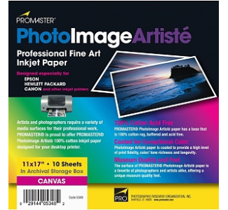 Promaster PhotoImage Artiste Fine Art Inkjet Canvas - 11