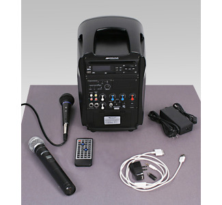 Amplivox SW720 Portable PA System With DVD/CD Player and Wireless HandHeld