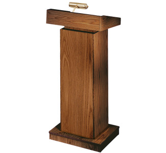 Oklahoma Sound 810 Orator Floor Lectern Manual Height Adjustable - Non-Sound - Walnut