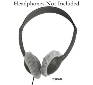 Hamilton HYGENXWR25 HygenX Sanitary Headphone Covers for On-Ear Headsets - 12 Boxes x 100 Per Box