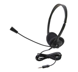 Califone 3065AVT Lightweight Headset with Microphone and 3.5mm To Go Plug
