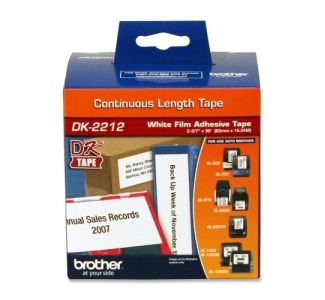 Brother DK-2212 Black on White Label Tape 2.44