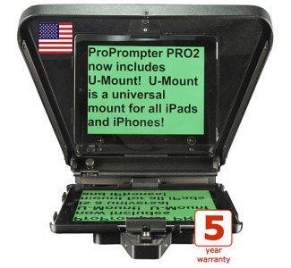 Bodelin PP-HD-I-PRO2 ProPrompter HDi PRO2 Mobile for iPad and iPhone (Bar/Rail Mount)