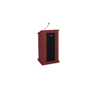 Amplivox S470 Chancellor Lectern with Sound System - Mahogany