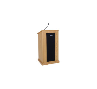 Amplivox S470 Chancellor Lectern with Sound System - Natural Oak