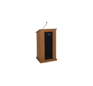 Amplivox S470 Chancellor Lectern with Sound System - Walnut
