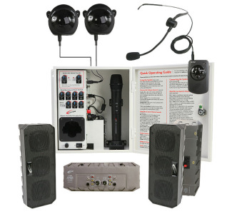 Califone PA-IRSYSB Infrared Classroom Audio System (4 Wall Speakers)