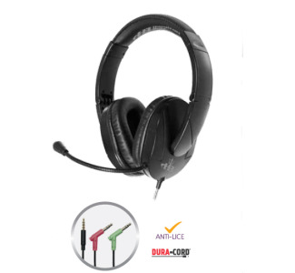 Hamilton T18LG3EBK Trios Multimedia Headset (TRRS and Dual 3.5mm plugs)