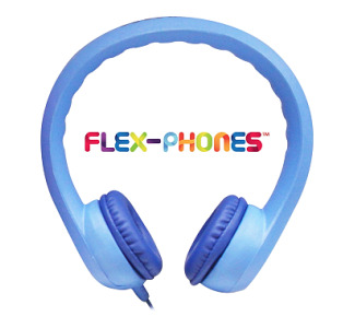 Hamilton KIDS-BLU Flex-Phones 3.5mm Stereo Plug, Blue