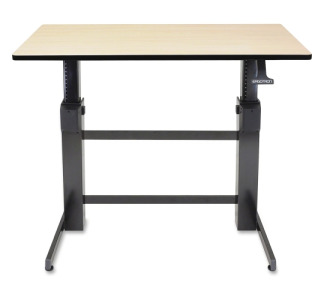 Ergotron WorkFit D, Sit Stand Desk (Birch Surface)