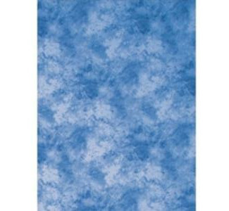 Promaster Cloud Dyed Backdrop - 10'' x 20'' - Medium Blue