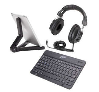 Califone KB4PACK Mobile Package - Includes Keyboard, Headphone, Tablet Stand