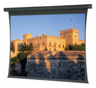 "Da-Lite Large Tensioned Cosmopolitan 82430E Electric Projection Screen - 200"" - 4:3 - Ceiling Mount, Wall Mount"