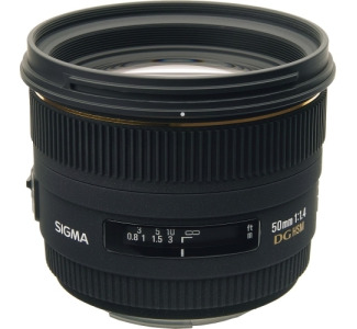 Sigma - 50 mm - f/1.4 - Fixed Focal Length Lens for Nikon F