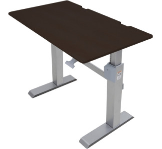 Camcor Com Ergotron Workfit Dl 48 Sit Stand Desk Wenge