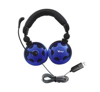 HamiltonBuhl T-PRO USB Headset with Noise-Cancelling Microphone Custom-Made for School Testing