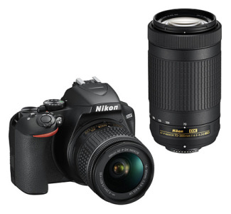 Nikon D3500 Two Lens Kit - 18-55mm and 70-300mm Lenses - Black