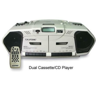 Califone Dual Cassette Recorder With CD/AM/FM 2W