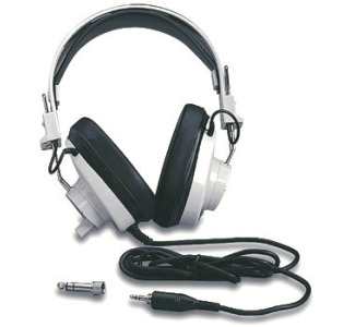 "Califone 2924AVPS Classroom Stereo Headphone with 3.5mm Plug and 1/4"" Adapter"