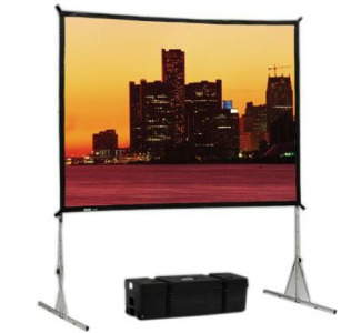 Da-Lite 9' x 12' Fast-Fold Deluxe Screen System [Da-Tex (Rear) Screen Surface]