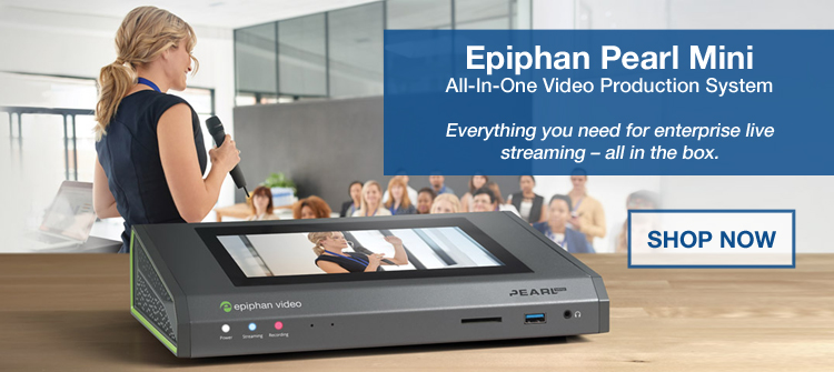 Epiphan Pearl Mini All-In-One Video Production System in Use at a Conference